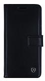 Samsung Galaxy A5 2016 Cüzdanlı Yan Kapaklı Siyah Deri Kılıf