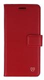 Samsung Galaxy A5 2016 Cüzdanlı Yan Kapaklı Kırmızı Deri Kılıf