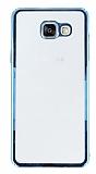 Samsung Galaxy A5 2016 Mavi Kenarl� �effaf Rubber K�l�f