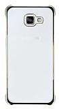 Samsung Galaxy A5 2016 Gold Kenarlı Şeffaf Rubber Kılıf