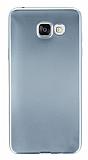 Samsung Galaxy A5 2016 Metalik Silver Silikon Kılıf