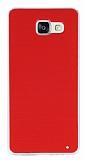 Samsung Galaxy A5 2016 Şeffaf Kenarlı Kırmızı Silikon Kılıf