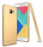 Samsung Galaxy A5 2016 Tam Kenar Koruma Gold Rubber Kılıf