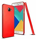 Samsung Galaxy A5 2016 Tam Kenar Koruma Kırmızı Rubber Kılıf