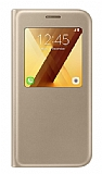 Samsung Galaxy A5 2017 Orjinal Pencereli S View Cover Gold Kılıf