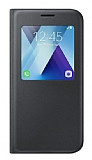 Samsung Galaxy A5 2017 Orjinal Pencereli S View Cover Siyah Kılıf