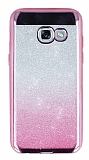 Samsung Galaxy A5 2017 Simli Parlak Pembe Silikon Kılıf