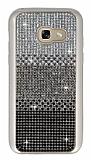 Samsung Galaxy A5 2017 Taşlı Geçişli Siyah Silikon Kılıf