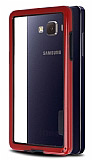 Samsung Galaxy A5 Silikon Bumper Çerçeve Kırmızı Kılıf