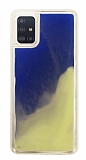 Samsung Galaxy A51 Neon Kumlu Mavi Silikon Kılıf