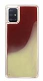 Samsung Galaxy A51 Neon Kumlu Kırmızı Silikon Kılıf