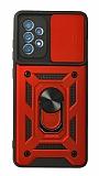 Eiroo Magnet Lens Samsung Galaxy A52 / A52 5G Ultra Koruma Kırmızı Kılıf