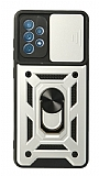 Eiroo Magnet Lens Samsung Galaxy A52 / A52 5G Ultra Koruma Silver Kılıf