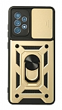 Eiroo Magnet Lens Samsung Galaxy A52 / A52 5G Ultra Koruma Gold Kılıf