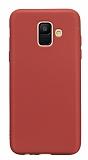 Samsung Galaxy A6 2018 Mat Kırmızı Silikon Kılıf