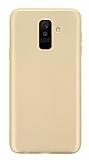 Samsung Galaxy A6 Plus 2018 Mat Gold Silikon Kılıf