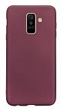 Samsung Galaxy A6 Plus 2018 Mat Mürdüm Silikon Kılıf