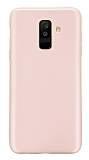 Samsung Galaxy A6 Plus 2018 Mat Rose Gold Silikon Kılıf