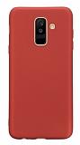 Samsung Galaxy A6 Plus 2018 Mat Kırmızı Silikon Kılıf