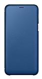 Samsung Galaxy A6 Plus 2018 Orjinal Kapaklı Mavi Kılıf