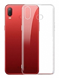 Samsung Galaxy A6s Ultra İnce Şeffaf Silikon Kılıf