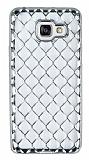 Samsung Galaxy A7 2016 Diamond Silver Kenarlı Şeffaf Silikon Kılıf