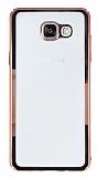 Samsung Galaxy A7 2016 Rose Gold Kenarlı Şeffaf Rubber Kılıf