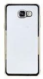 Samsung Galaxy A7 2016 Gold Kenarlı Şeffaf Rubber Kılıf