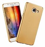 Samsung Galaxy A7 2016 Tam Kenar Koruma Gold Rubber Kılıf