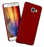 Samsung Galaxy A7 2016 Tam Kenar Koruma Kırmızı Rubber Kılıf