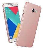 Samsung Galaxy A7 2016 Tam Kenar Koruma Rose Gold Rubber Kılıf