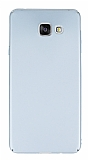 Samsung Galaxy A7 2016 Tam Kenar Koruma Silver Rubber Kılıf