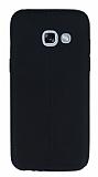 Samsung Galaxy A7 2017 Deri Desenli Ultra İnce Siyah Silikon Kılıf