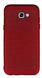 Samsung Galaxy A7 2017 Noktalı Mat Kırmızı Silikon Kılıf