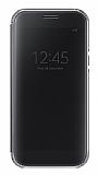 Samsung Galaxy A7 2017 Orjinal Clear View Uyku Modlu Siyah Kılıf