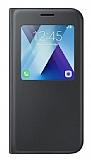 Samsung Galaxy A7 2017 Orjinal Pencereli S View Cover Siyah Kılıf