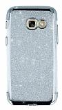 Samsung Galaxy A7 2017 Simli Silver Silikon Kılıf