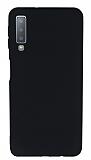 Samsung Galaxy A7 2018 Mat Siyah Silikon Kılıf