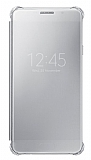 Samsung Galaxy A7 2016 Orjinal Clear View Uyku Modlu Silver K�l�f