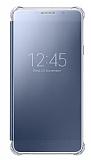 Samsung Galaxy A7 2016 Orjinal Clear View Uyku Modlu Siyah K�l�f
