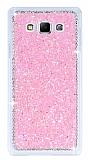 Samsung Galaxy A7 Taşlı Pembe Rubber Kılıf