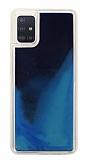 Samsung Galaxy A71 Neon Kumlu Lacivert Silikon Kılıf
