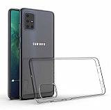 Samsung Galaxy A71 Ultra İnce Şeffaf Silikon Kılıf