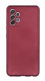 Samsung Galaxy A72 Bordo Mat Silikon Kılıf