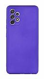 Samsung Galaxy A72 Mavi Mat Silikon Kılıf