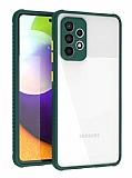 Samsung Galaxy A72 Ultra Koruma Kaff Koyu Yeşil Kılıf