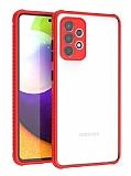 Samsung Galaxy A72 Ultra Koruma Kaff Kırmızı Kılıf