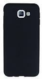 Samsung Galaxy A8 2016 Deri Desenli Ultra İnce Siyah Silikon Kılıf