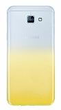 Samsung Galaxy A8 2016 Geçişli Sarı Silikon Kılıf
