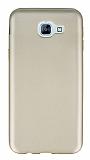 Samsung Galaxy A8 2016 Mat Gold Silikon Kılıf